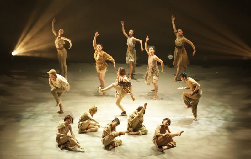 Group of people performing